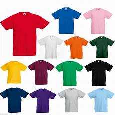 fruit of the loom t shirt 12 colours all ages ebay