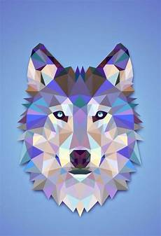 Geometric Wolf Wallpaper