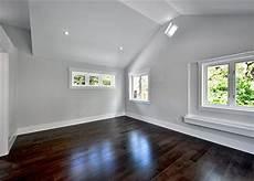 love dark floors white trim light gray walls summer project diy house pinterest grey