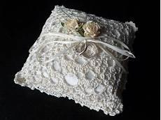 crochet wedding ring pillow craftstylish