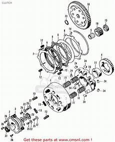 honda ct 70 k3 clutch assembly diagram honda ct70 trail 70 k2 1973 usa clutch schematic partsfiche