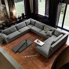 latest living room sofa design u shape sectional sofa 7
