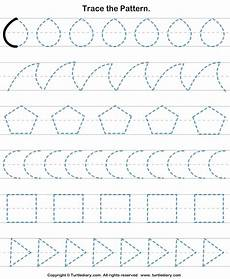 pattern tracing worksheets for kindergarten pdf trace the pattern turtlediary
