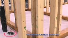 holzwand selber bauen bauerfolg bausatz holzhaus aufbau teil 5