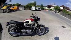 essai triumph bonneville essai triumph bonneville t100 2018 moto attachante avec du caract 232 re plaisante 224 rouler