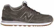 new balance 574 classic suede sneakers in gray for lyst