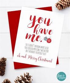 funny christmas card boyfriend card christmas card