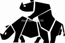 wholesale 20 pcs lot rhinos vector image car sticker