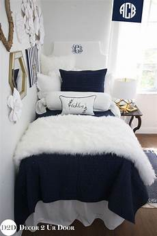 dorm luxury bedding custom for you navy white fur