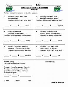 writing subtraction sentences worksheets have fun teaching