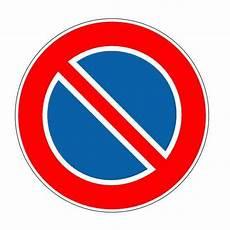 autocollant interdiction de stationner autocollant ou panneau rigide interdiction de stationner