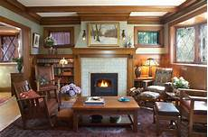 arts crafts fireplace traditional family room