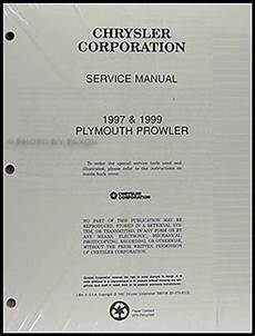 repair voice data communications 1999 plymouth prowler on board diagnostic system 1997 plymouth prowler repair shop manual original