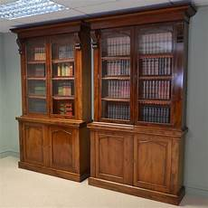 rare pair of quality victorian figured mahogany library bookcases antiques world