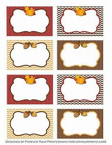 thanksgiving turkey place card templates free printables thanksgiving food table cards in 2019
