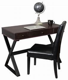 Schreibtisch Dunkles Holz - geena 3 drawer brown wood writing desk transitional
