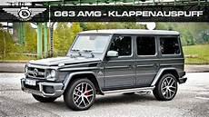 Mercedes G Klasse G63 Amg Klappenauspuff Sound Tuning By
