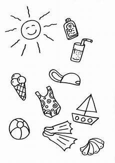 Bilder Zum Ausmalen Sommer Kostenlose Malvorlage Sommer Sommersachen Zum Ausmalen
