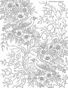 Malvorlagen Erwachsene Malvorlage Erwachsene Vogel Mit Blumen Kostenlose