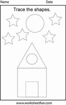 shapes worksheets in 1105 free printable preschool worksheets this one is trace the shapes on best worksheets collection