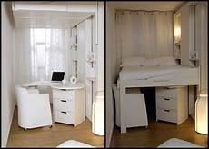 lit escamotable plateau mobile espace loggia