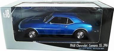 1968 Chevy Camaro SS396  Blue Welly 1/18 Diecast Car
