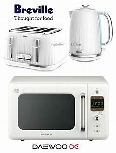 breville impressions white kettle and toaster set daewoo