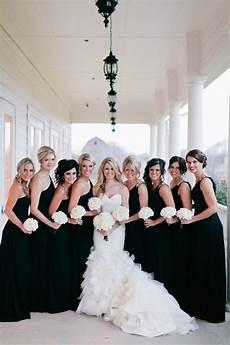 black is back black bridesmaids dresses easy weddings