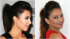 big puff ponytail hairstyle tutorial easy ponytail for medium hair for everyday work