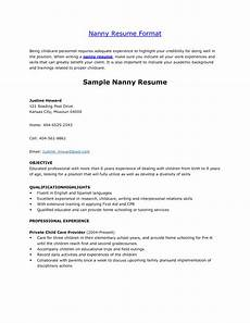 nanny resume template project scope template