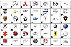 Car Logo Tell Us The Names Of These Car Brands Using