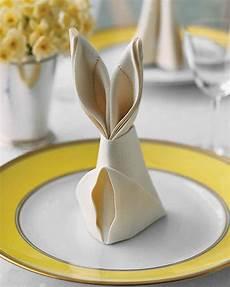 Bunny Napkin Fold Martha Stewart