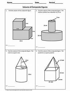 volume of a composite figure worksheet geometry worksheet volume of composite figures by my geometry world