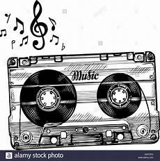 cassetta musica disegnate a mano la musica di cassetta schizzo di nastri
