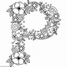 Ausmalbilder Buchstaben P Floral Alphabet Coloring Pages Page 2 Getcoloringpages
