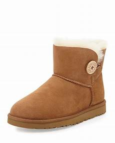 ugg mini bailey button boot chestnut