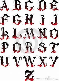 lettere gotiche minuscole alfabeto gotico fotografia stock libera da diritti