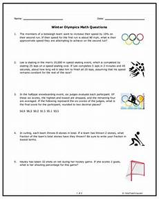 word problem worksheets high school 11048 free winter olympics math word problems for middle school students get your middle maths