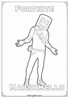 Malvorlagen Fortnite Io Print Marhmello Pose From Fortnite Season 7 Coloring Pages