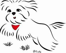 new dogs maltese draw 70 ideas dogs line drawing