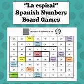 Spanish Numbers Board Game  Pinterest Student