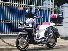 Jok Scoopy Modifikasi by Modifikasi Jok Motor Jok Motor Honda Scoopy Blueberry