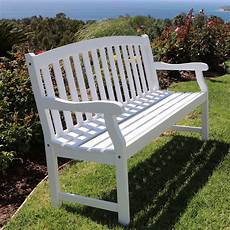 Shop Bradley Outdoor White Weather Resistant Wood Bench