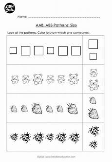 patterns math worksheets for kindergarten 160 free aab and abb patterns worksheet for kindergarten level color the preschool math