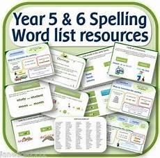 year 5 6 spelling word list teaching resources iwb worksheets activities on cd ebay