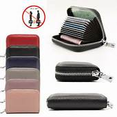 Genuine Leather RFID CREDIT CARD HOLDER PROTECTOR WALLET