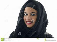 Portrait Of A Beautiful Arabian Woman Wearing Hijab, Stock