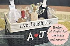 basket of quot firsts quot bridal shower gift this idea includes