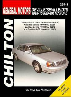 old car repair manuals 1999 cadillac seville transmission control cadillac deville seville dts repair manual 1999 2010 chilton 28541