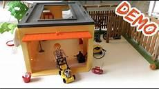 Playmobil 9368 Garage by Playmobil 9368 Garage Mit Fahrradstellplatz Aufbau Und